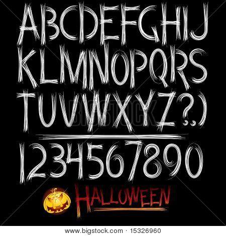 Unheimlich Einrichtungsstil Alphabet (Halloween Designschriftart)
