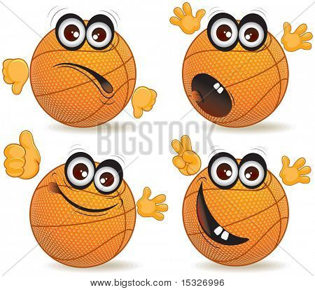 Cartoon basketball ball