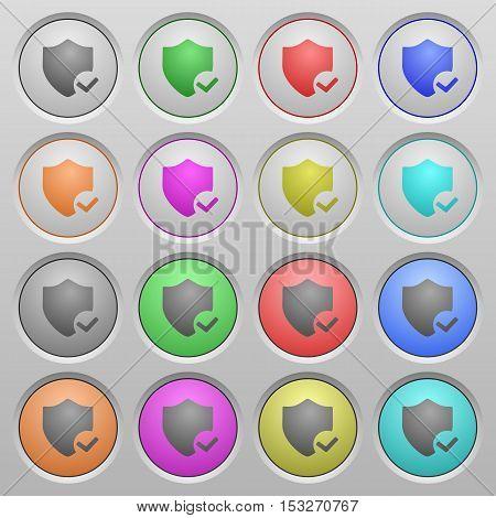Protection ok plastic sunk spherical push button set