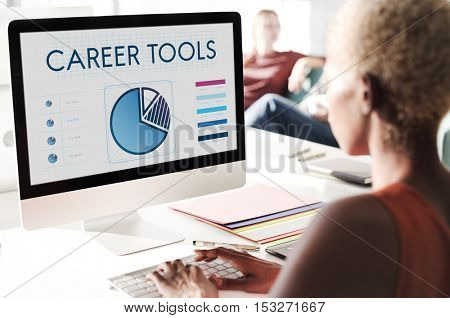 Career Tools Data Graph Business Concept