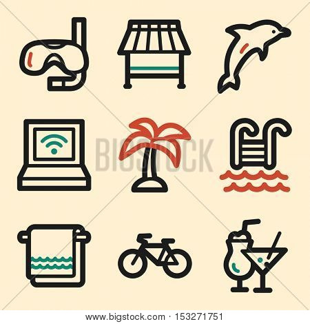 Vacation icon, transport vector web sign.  Trip mobile icon. Iinfographics symbols.