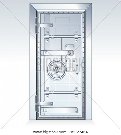 Bank Vault Door - isolated vector illustration
