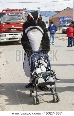 Man In Penguin Costume