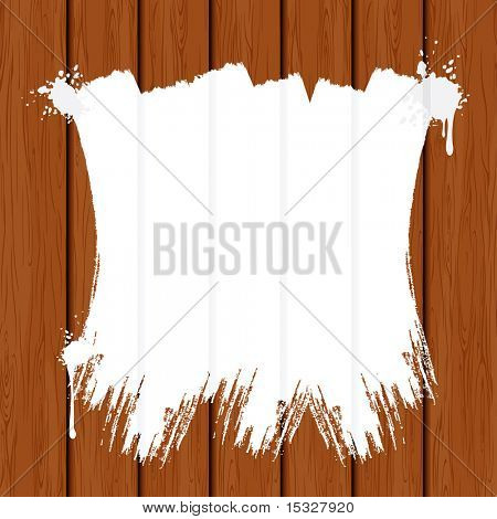 Brush Paint Strokes on Wooden Boards - background with copy space ready for your text - vector illustration