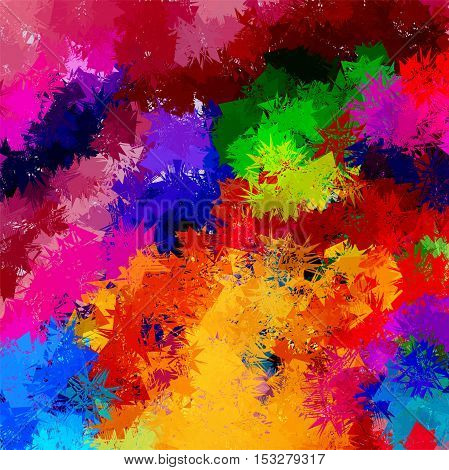 Multicolored abstract background. The composition of bright colors.