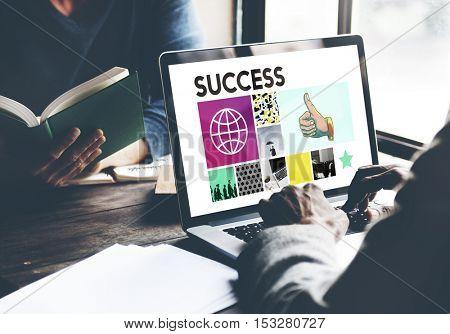 Success Achievement Competition Winning Victory Concept