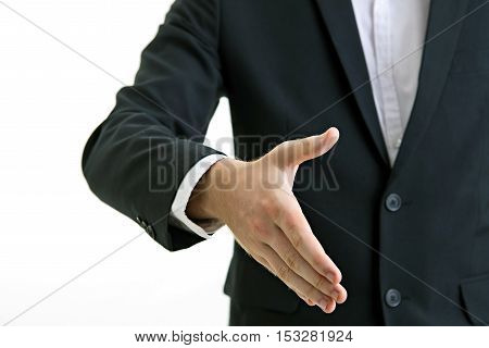 business men shaking hands isolate white background