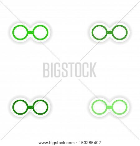 assembly realistic sticker design on paper glasses
