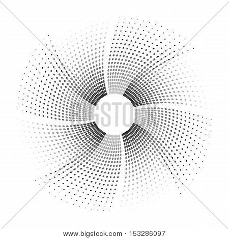Abstract dotted background. Halftone effect vector illustration. Black dots on white background.