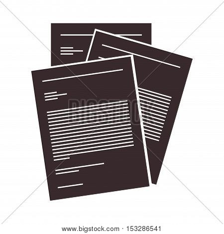 document paper sheets over white background. vector illustration