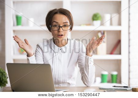 Mad Woman At Workplace