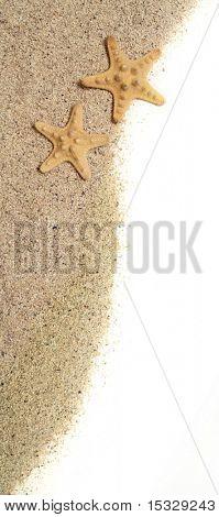 Estrellas de mar y arena - concepto de vacaciones, similar disponible