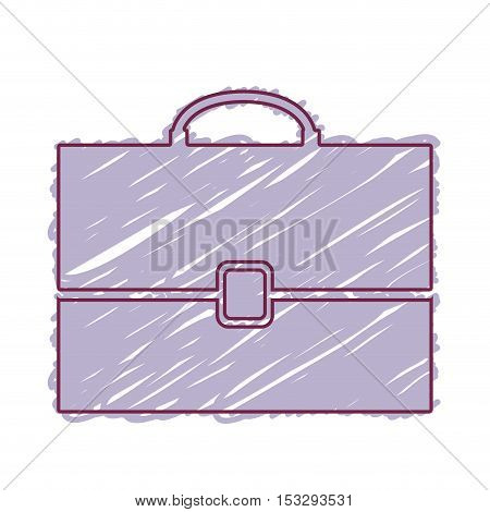 business briefcase accessory over white background. draw design. vector illustration