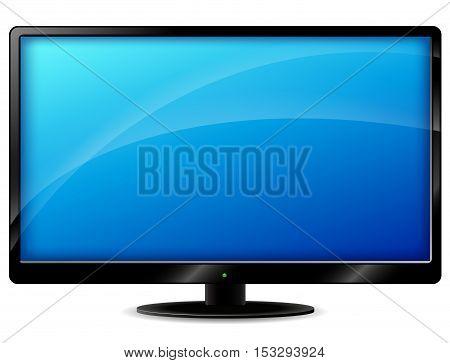 Illustration of tv set on white background