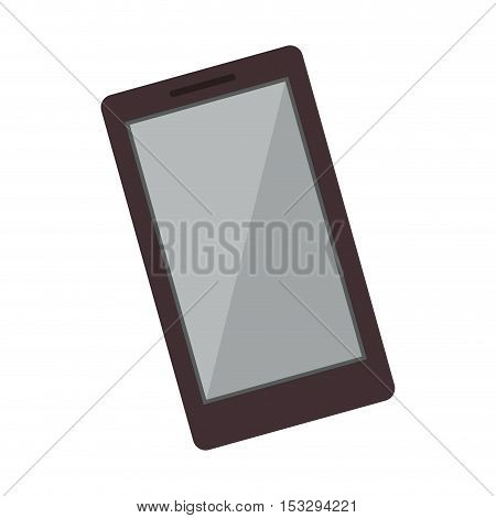 smartphone mobile device over white background. vector illustration