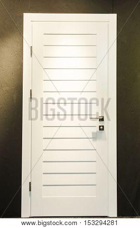 White Closed Door