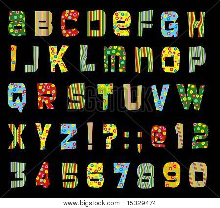 Candy alphabet and numbers