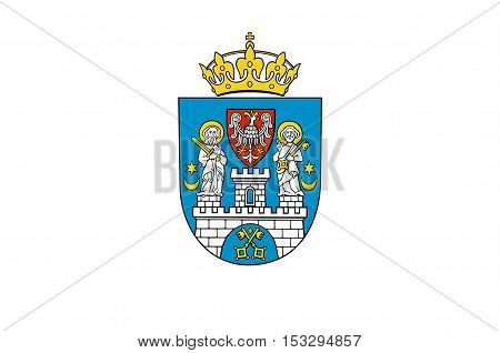 Flag of Poznan is a city in west-central Poland