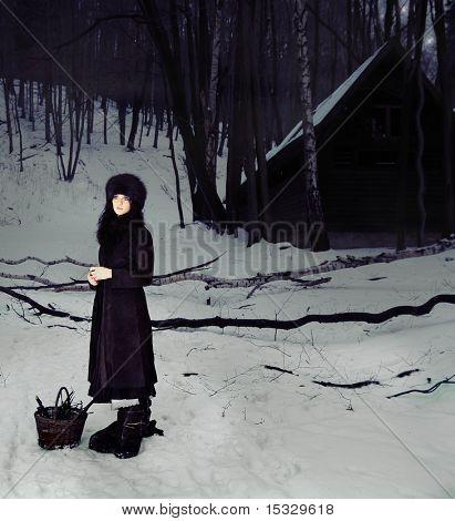 Märchenhafte Geschichte - allein im Wald