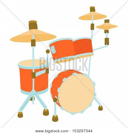 Drum icon. Cartoon illustration of drum vector icon for web
