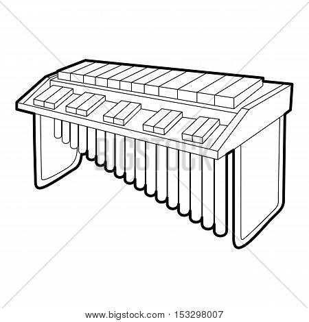 Synthesizer icon. Outline isometric illustration of synthesizer vector icon for web