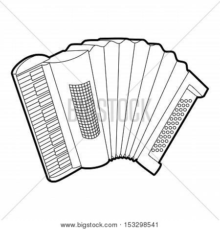 Accordion icon. Outline isometric illustration of accordion vector icon for web