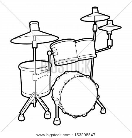 Drum icon. Outline isometric illustration of drum vector icon for web