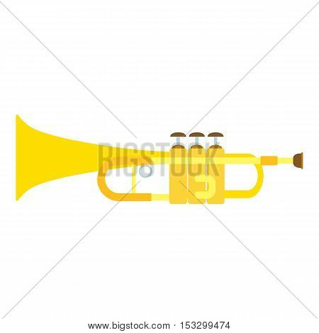 Trumpet icon. Flat illustration of trumpet vector icon for web