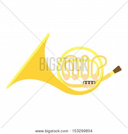 Brass pipe icon. Flat illustration of brass pipe vector icon for web