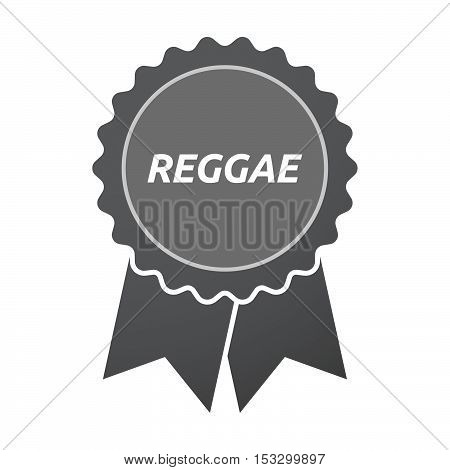 Isolated Badge Icon With    The Text Reggae