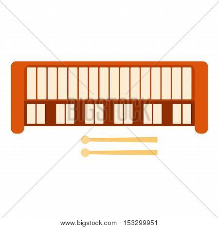 Synthesizer icon. Flat illustration of synthesizer vector icon for web