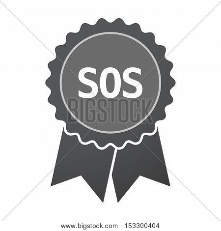 Isolated Badge Icon With    The Text Sos