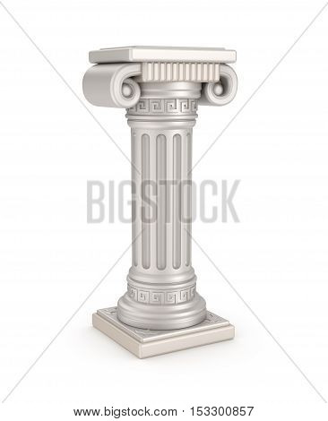 Ancient pillar 3D illustration , over white