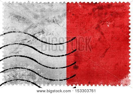 Flag Of Bari, Italy, Old Postage Stamp