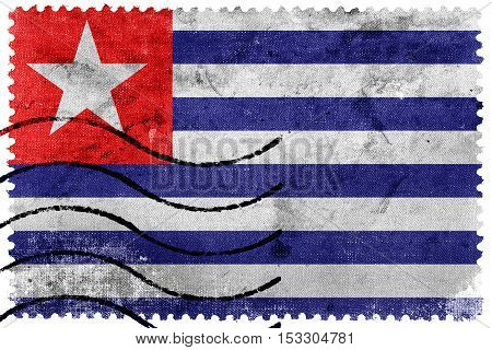 Flag Of Carmo, Rio De Janeiro State, Brazil, Old Postage Stamp