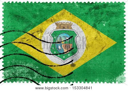 Flag Of Ceara State, Brazil, Old Postage Stamp
