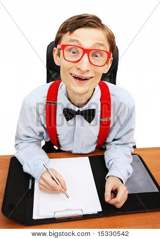 Sr. Nerd en la oficina