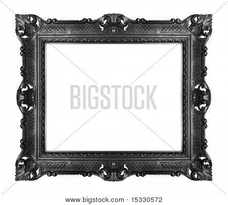 antique black frame isolated