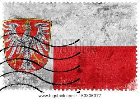 Flag Of Frankfurt Am Main, Germany, Old Postage Stamp