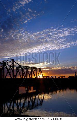 Trestle Bridge Over San Jaoquin River