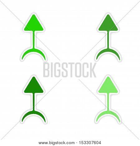 assembly realistic sticker design on paper magic symbols
