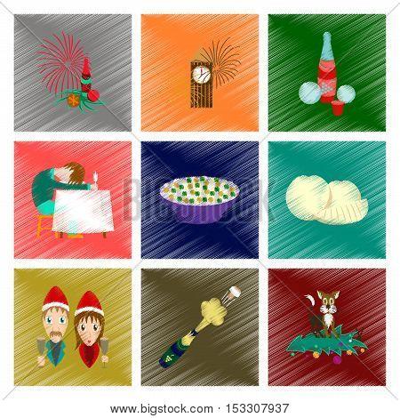 assembly flat shading style icon of Christmas celebration