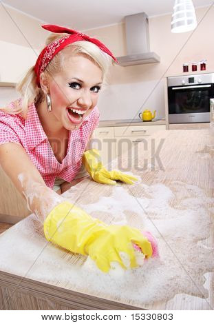 Cheerful housewife, similar available in my portfolio