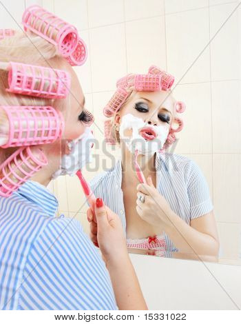 Morning shave, similar available in my portfolio