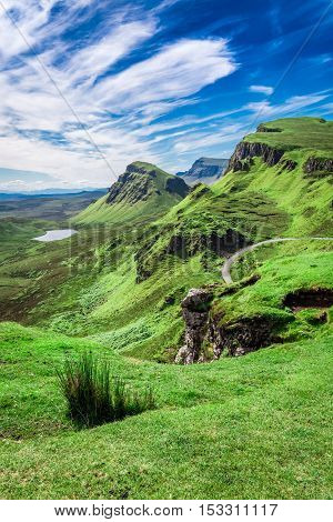 Stunning View From Quiraing In Isle Of Skye, Scotland, United Kingdom