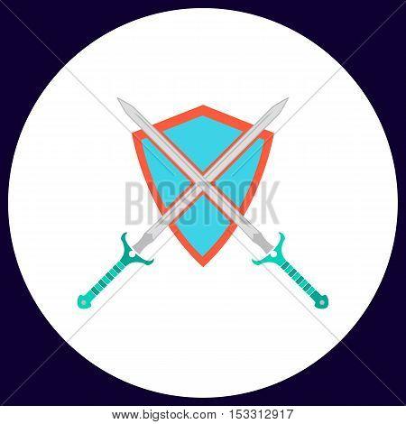 heraldry Simple vector button. Illustration symbol. Color flat icon