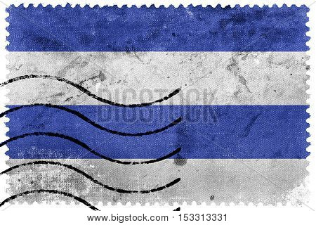 Flag Of Oslo, Norway, 1924-2000, Old Postage Stamp