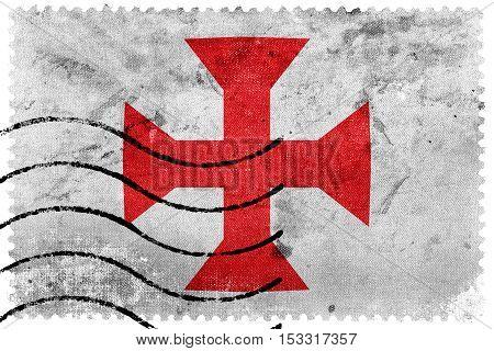 Flag Of Sucre, Bolivia, Old Postage Stamp