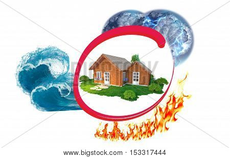 Home insurance against disaster: rain, lightning, tsunami and fire