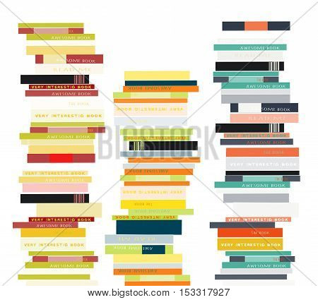 Stack of books.Vector illustration in flat style